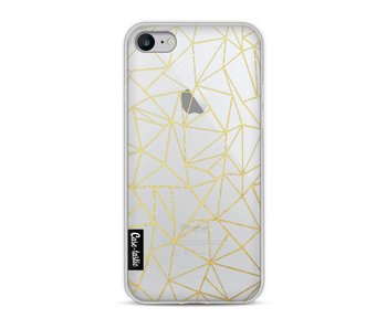 Abstraction Outline Gold Transparent - Apple iPhone 8