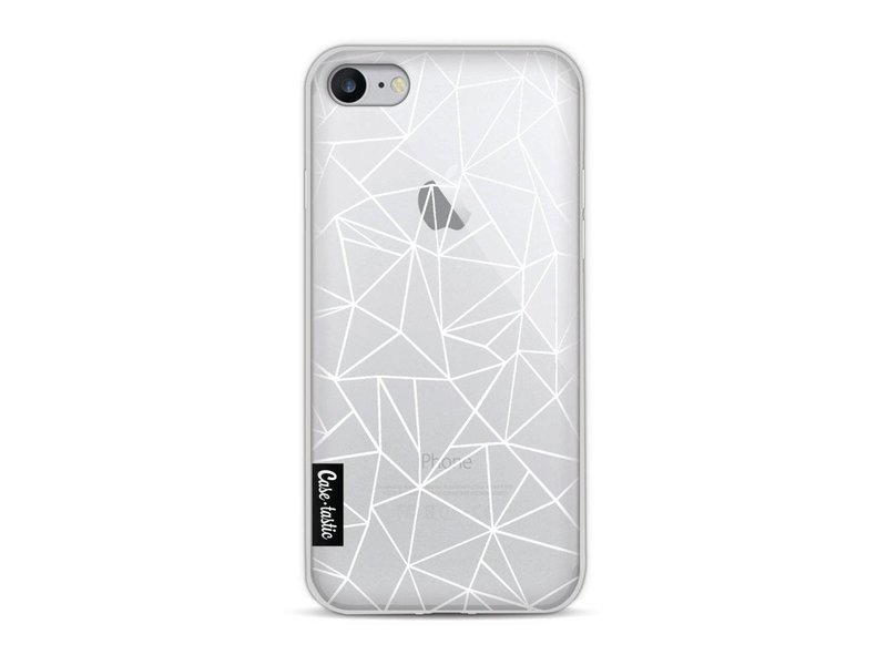 Casetastic Softcover Apple iPhone 8 - Abstraction Outline White Transparent