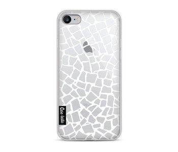 British Mosaic White Transparent - Apple iPhone 8