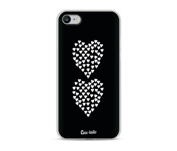 Hearts Heart 2 Black - Apple iPhone 8