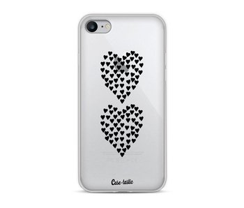 Hearts Heart 2 Black Transparent - Apple iPhone 8