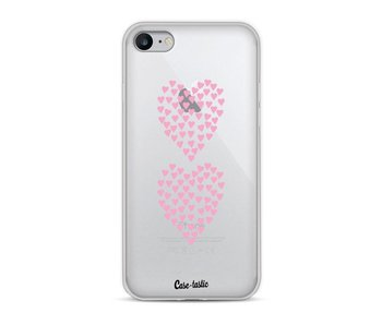Hearts Heart 2 Pink Transparent - Apple iPhone 8