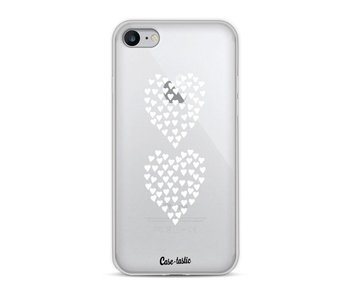 Hearts Heart 2 White Transparent - Apple iPhone 8
