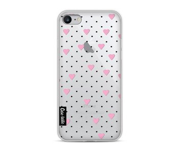 Pin Point Hearts Pink Transparent - Apple iPhone 8