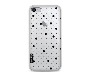 Pin Points Polka Black Transparent - Apple iPhone 8