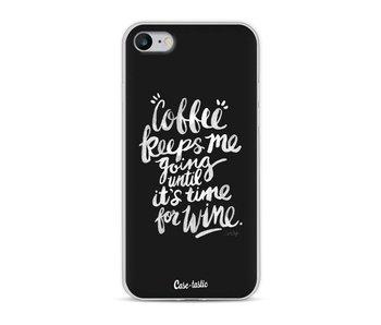Coffee Wine White - Apple iPhone 8