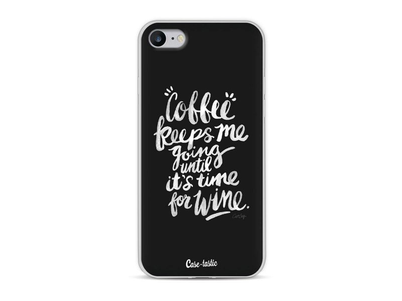 Casetastic Softcover Apple iPhone 8 - Coffee Wine White