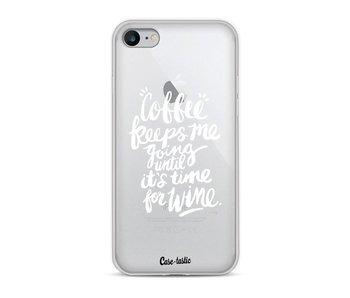 Coffee Wine White Transparent - Apple iPhone 8