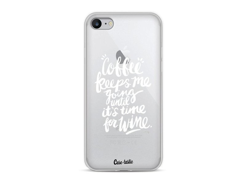 Casetastic Softcover Apple iPhone 8 - Coffee Wine White Transparent