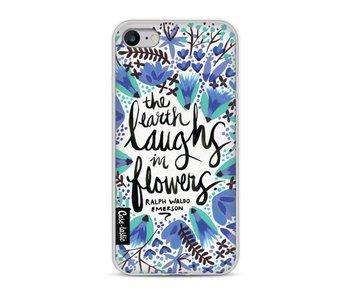 Laughs Flowers BlueBlack - Apple iPhone 8
