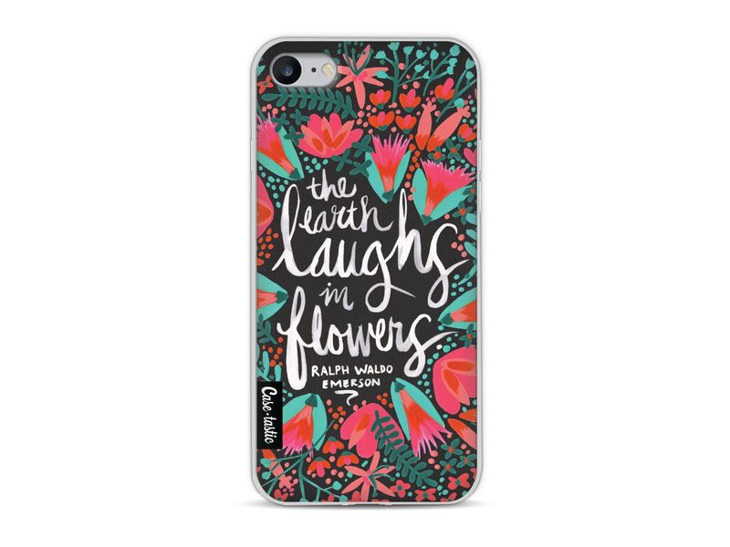 Casetastic Softcover Apple iPhone 8 - Laughs Flowers Charcoal