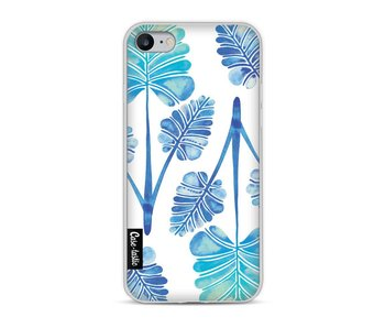 Blue Ombre Palm Leaf Trifecta Pattern - Apple iPhone 8