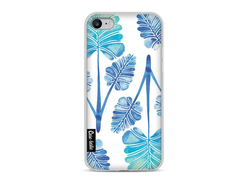 Casetastic Softcover Apple iPhone 8 - Blue Ombre Palm Leaf Trifecta Pattern