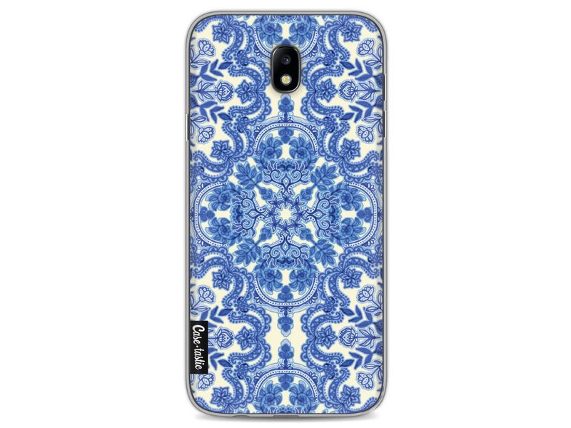 Casetastic Softcover Samsung Galaxy J7 (2017) - Blue White Folk Art