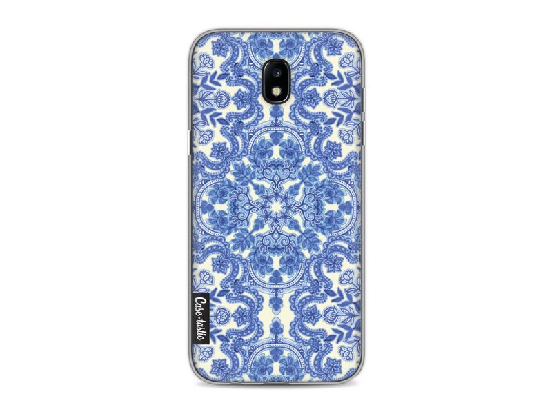 Casetastic Softcover Samsung Galaxy J5 (2017) - Blue White Folk Art