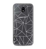 Casetastic Softcover Samsung Galaxy J5 (2017) - Abstract Dotted Lines Transparent