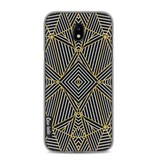 Casetastic Softcover Samsung Galaxy J5 (2017) - Abstraction Half Gold