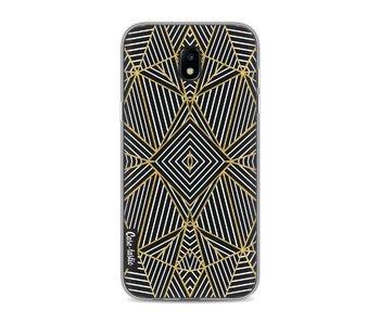 Abstraction Half Gold - Samsung Galaxy J5 (2017)