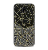 Casetastic Softcover Samsung Galaxy J5 (2017) - Abstraction Half Half Gold