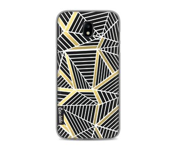 Abstraction Lines Black Gold - Samsung Galaxy J5 (2017)