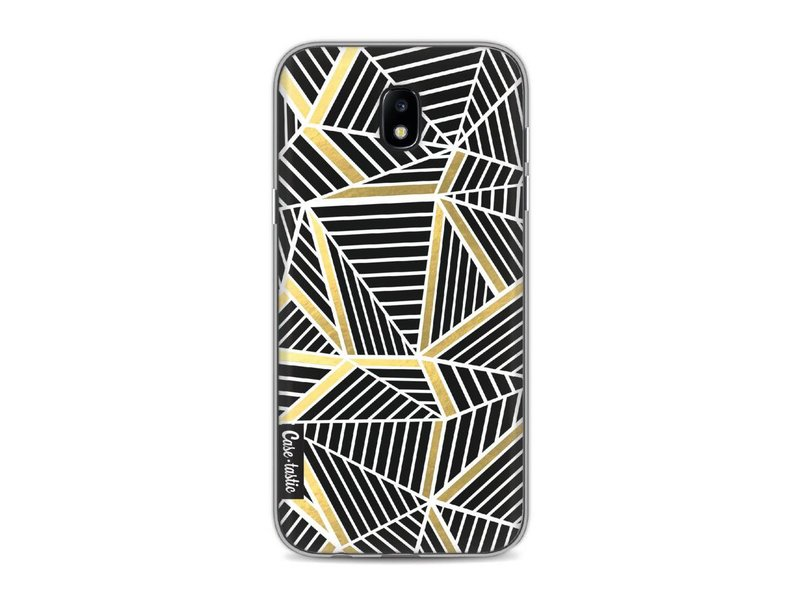Casetastic Softcover Samsung Galaxy J5 (2017) - Abstraction Lines Black Gold