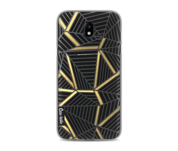 Abstraction Lines Black Gold Transparent - Samsung Galaxy J5 (2017)