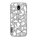 Casetastic Softcover Samsung Galaxy J5 (2017) - Abstraction Lines White