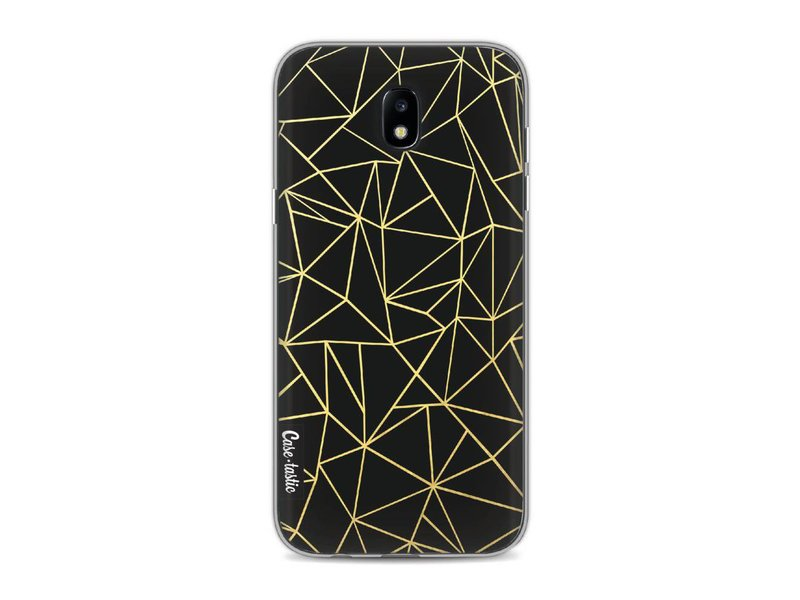 Casetastic Softcover Samsung Galaxy J5 (2017) - Abstraction Outline Gold