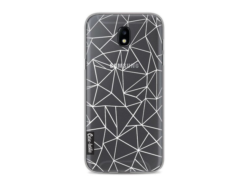Casetastic Softcover Samsung Galaxy J5 (2017) - Abstraction Outline White Transparent