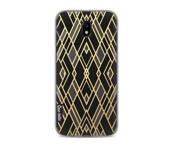 Art Deco Gold Black Transparent - Samsung Galaxy J5 (2017)