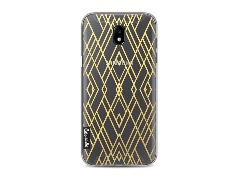 Casetastic Softcover Samsung Galaxy J5 (2017) - Art Deco Gold Transparent