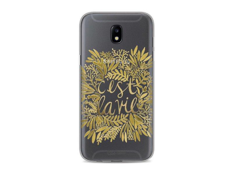 Casetastic Softcover Samsung Galaxy J5 (2017) - Cest La Vie Gold