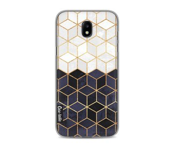 White and Navy Cubes - Samsung Galaxy J5 (2017)