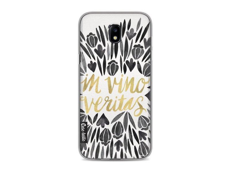 Casetastic Softcover Samsung Galaxy J5 (2017) - Black Vino Veritas Artprint