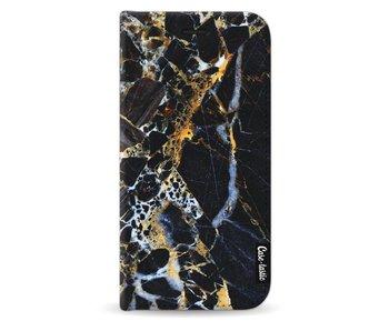 Black Gold Marble - Wallet Case Black Samsung Galaxy J5 (2017)