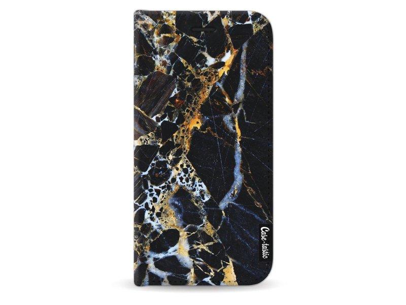 Casetastic Wallet Case Black Samsung Galaxy J5 (2017) - Black Gold Marble