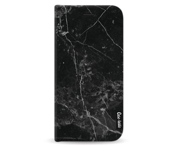 Black Marble - Wallet Case Black Samsung Galaxy J5 (2017)