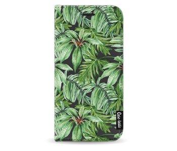 Transparent Leaves - Wallet Case Black Samsung Galaxy J5 (2017)