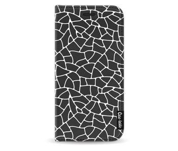 Transparent Mosaic White - Wallet Case Black Samsung Galaxy J5 (2017)