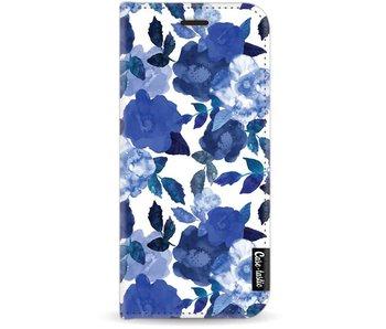 Royal Flowers - Wallet Case White Samsung Galaxy J7 (2017)