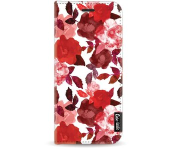Royal Flowers Red - Wallet Case White Samsung Galaxy J7 (2017)