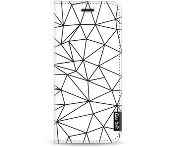 So Many Lines! Black - Wallet Case White Samsung Galaxy J7 (2017)