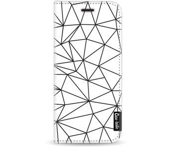 So Many Lines! Black - Wallet Case White Samsung Galaxy J7 (2017)