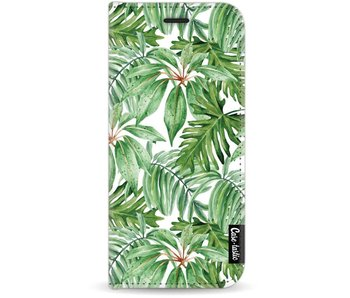 Transparent Leaves - Wallet Case White Samsung Galaxy J7 (2017)