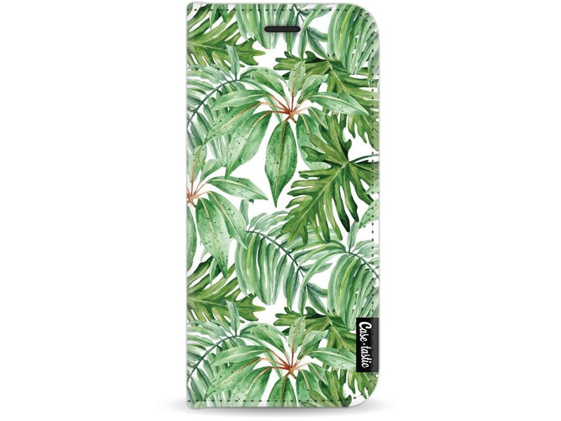 Casetastic Wallet Case White Samsung Galaxy J7 (2017) - Transparent Leaves