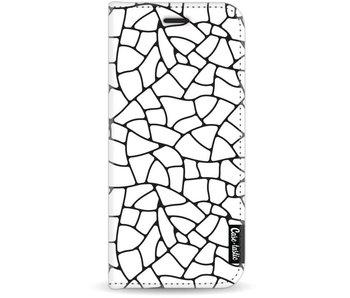 Transparent Mosaic - Wallet Case White Samsung Galaxy J7 (2017)
