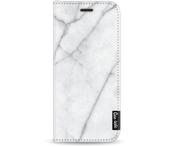 White Marble - Wallet Case White Samsung Galaxy J7 (2017)