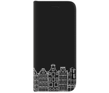 Amsterdam Canal Houses White - Wallet Case Black Samsung Galaxy J7 (2017)