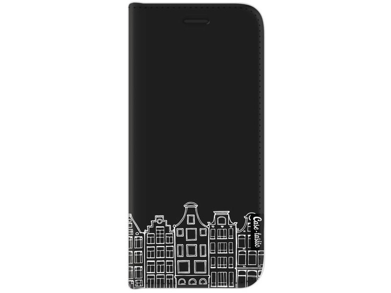 Casetastic Wallet Case Black Samsung Galaxy J7 (2017) - Amsterdam Canal Houses White