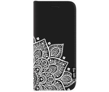 Floral Mandala White - Wallet Case Black Samsung Galaxy J7 (2017)